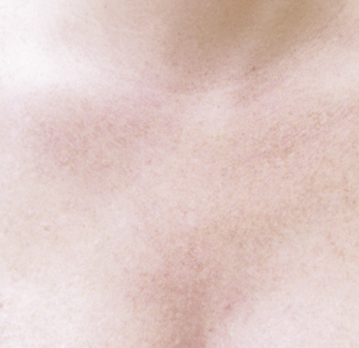 above chest