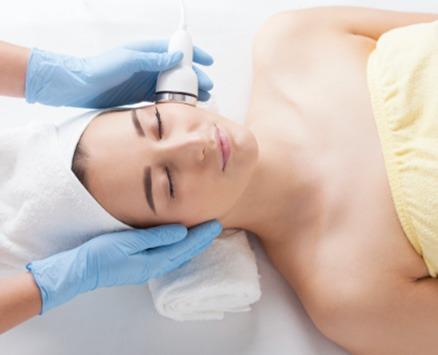 women getting facial