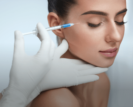women with botox injection