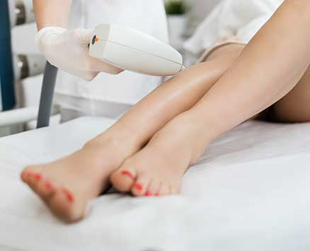 skin treatment on legs